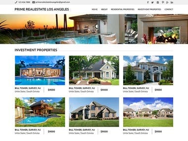 Prime Real estate Los Angeles - WordPress Project