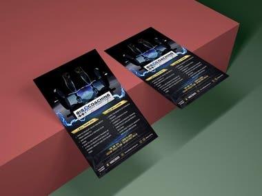 flyer design for big training