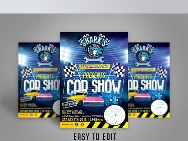 flyer design for car show