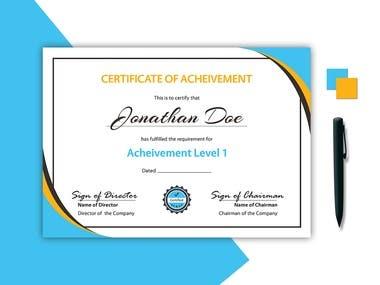 Perfect Certificate Design