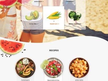 Graphic Design/Web Design The Melon Company Delicious Melons