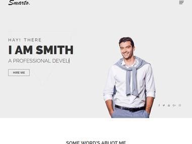 Website development with React