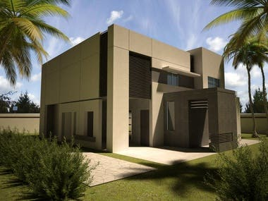 3D Modeling and Rendering autocad File of villas by Lumion