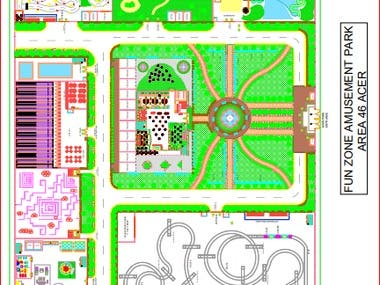 AutoCad Drawing for park
