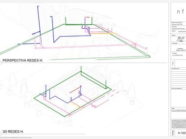 Hydraulic design- rural housing Byacá Colombia/ RVT MEP