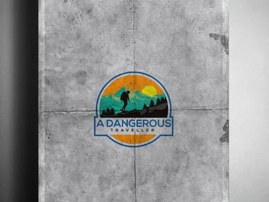 """Logo for a """"A Dangerous Traveller"""""""