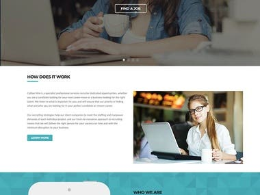 Caliber Hire - A HR Agency Website
