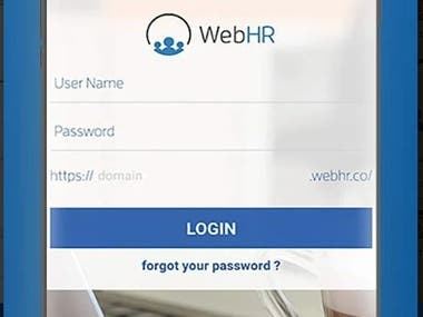 WebHR (Human Resource Management App)