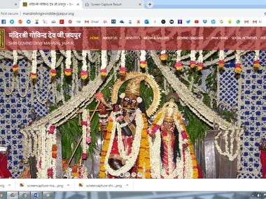 Design and develop an amazing Temple website