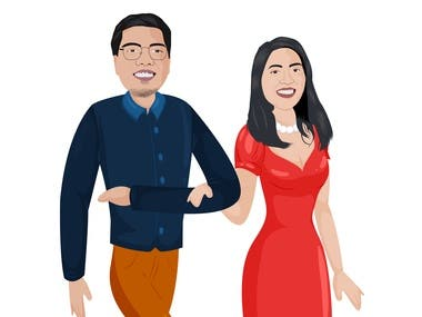 COUPLE ILLUSTRATION