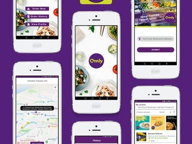 Omly Eats - Food delivery app for parties.