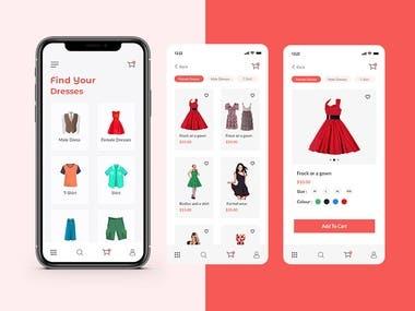 E-Commences Apps Design