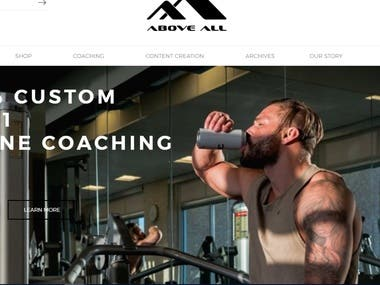 Gym website with accessories