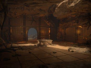 Cave scene