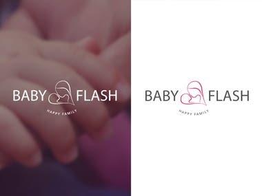 baby flash logo design