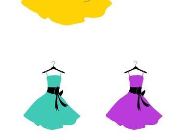 Dress fashion logo design