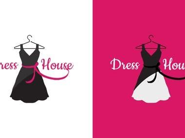 Dress House Fashion Logo