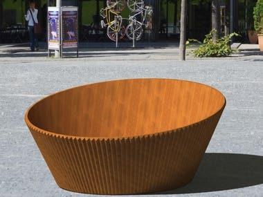 Firewood wooden basket
