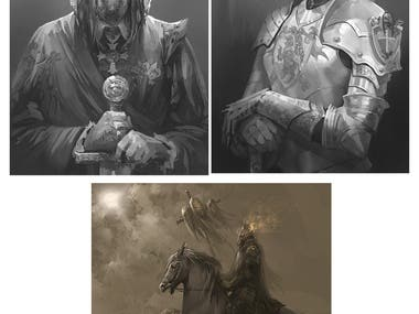 digital painting, drawing, concept art