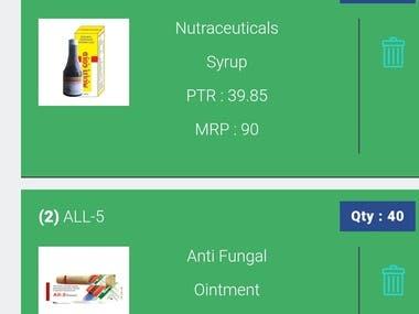 Order Management App - Pharma Company