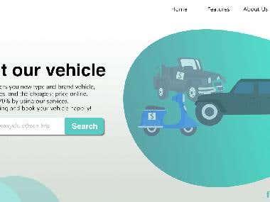 Rental Car Landing Page - UI/UX