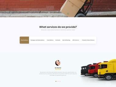 DVE Delivery Services Website