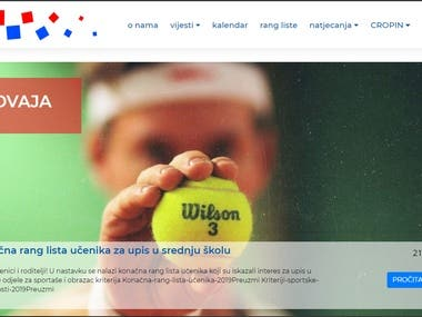 HTS (Croatian tennis association) website redesign
