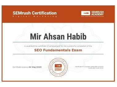 SEO-SEMrush Academy Certificate