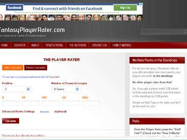 Fantasy Player Rater