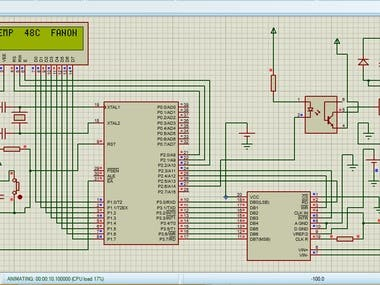 Temperature Controlled Fan using 8051