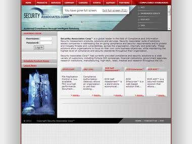 Security AC web application