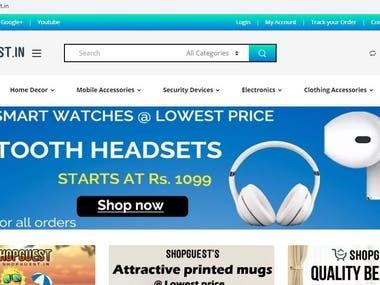 World Class Mobile Friendly E-commerce Website - Shopguest