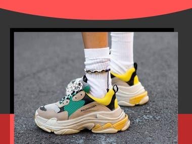 Balenciaga Shoes Landing Page Design