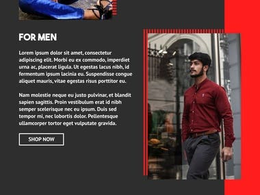 Cloth Store Web Design