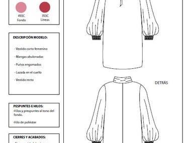 Dress flat drawing