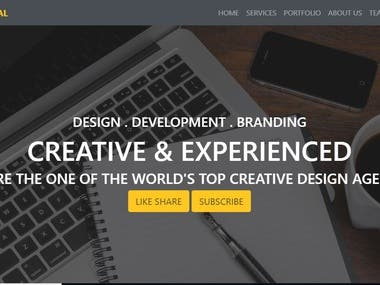 Web pages Design by me.