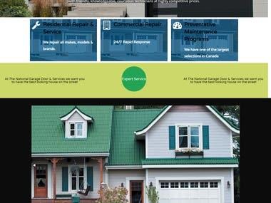 Website For National Garage Door Services
