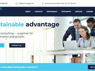 Consulting Website | WordPress