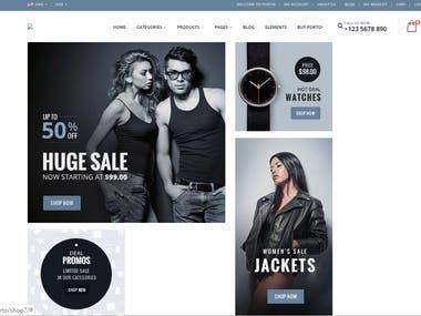 Wordpress Shopping Website
