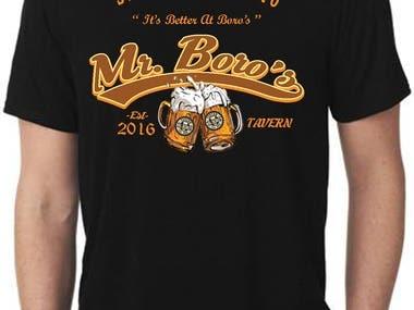 Mr Boro's Tavern T-shirt Design