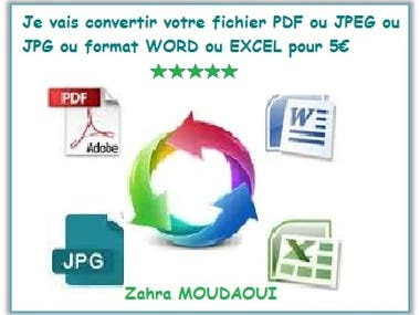 PDF CONVERSION FROM JPEG/PNG/JPG TO WORD / EXCEL