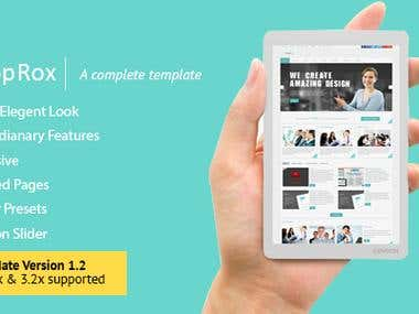 We develop teamplte for themeforest user