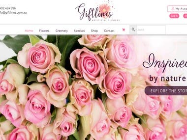 Giftlines Web Design