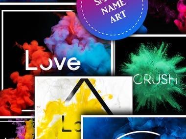 Name Art Smoke Effect