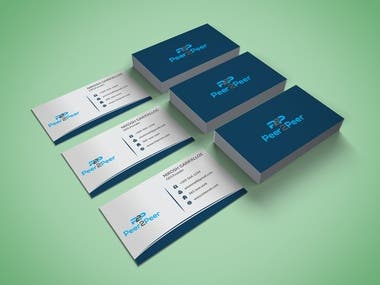 business card.