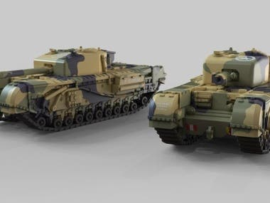 Plastic tanks models rendering
