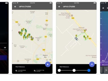 Mobile Application - A vehicle tracking system.