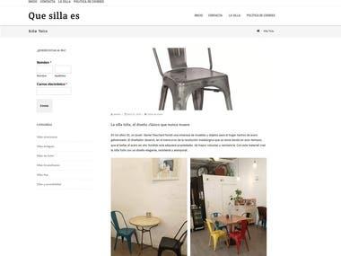 que-silla website