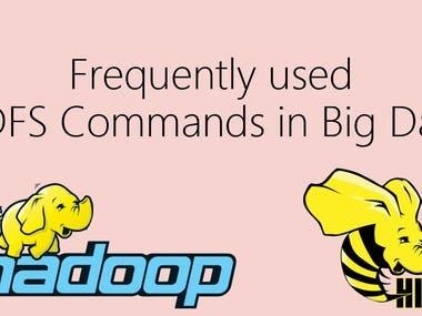 Hadoop and Hive commands.