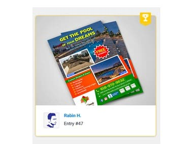 Design a print ad for pool business